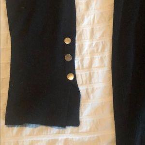 Zara Knit black sweater with metal button detail